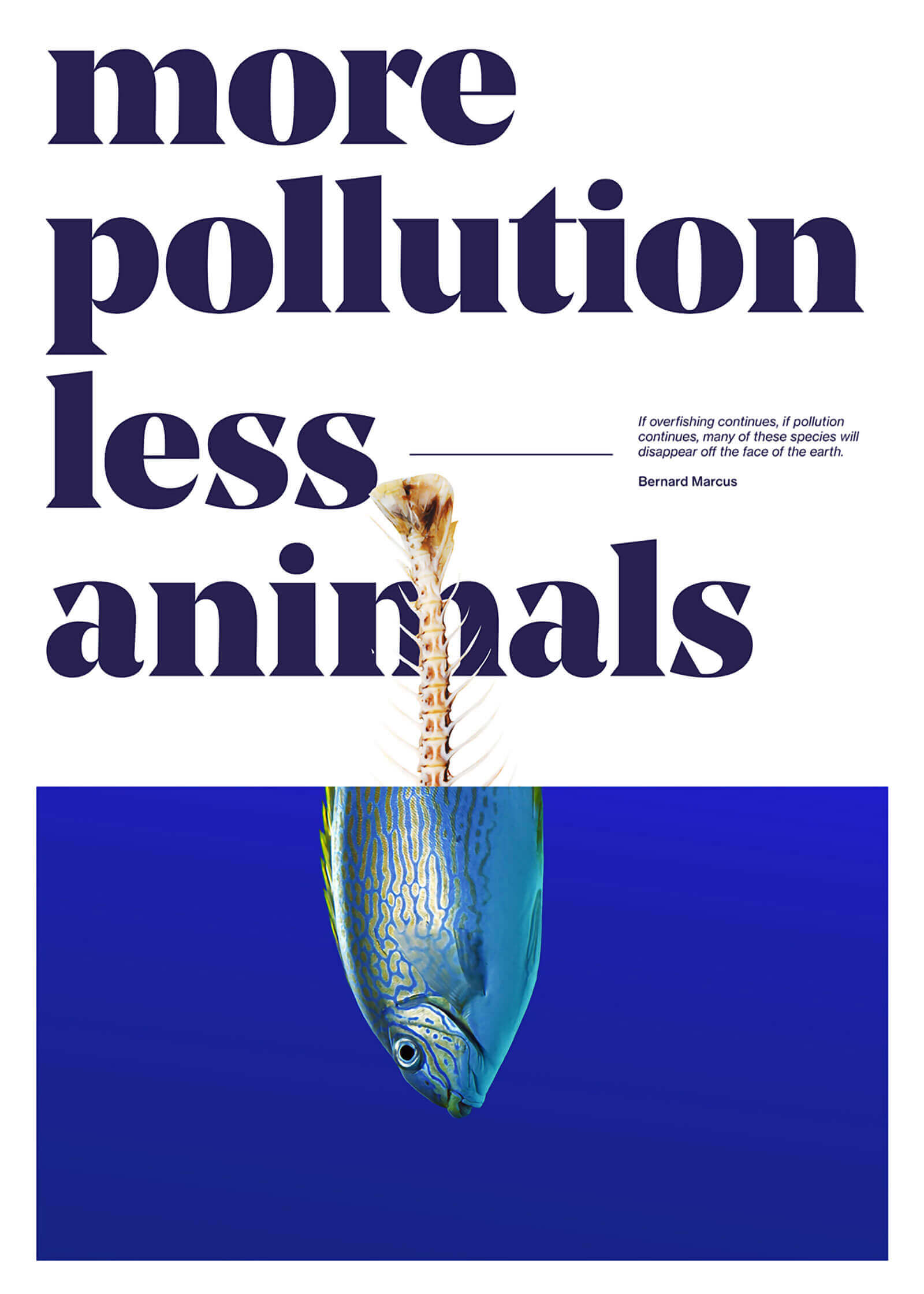 Social Poster - More pollution less animals
